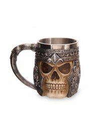 3D Skull Head Shaped Mug -
