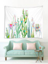 Cartoon Cactus and Animal Print Tapestry Wall Hanging Art Decoration -
