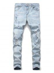 Ripped Destroyed Decoration Casual Jeans -