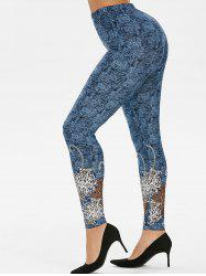 High Rise Tribal Print Jeggings -