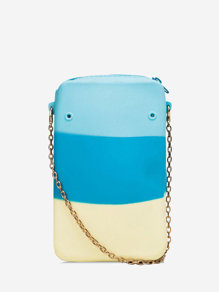 Discount Color Block Mini Chain Crossbody Bag