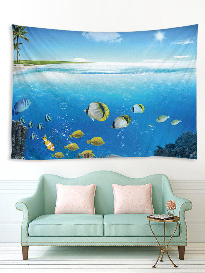 Latest Palm Tree Underwater World Print Home Decor Tapestry
