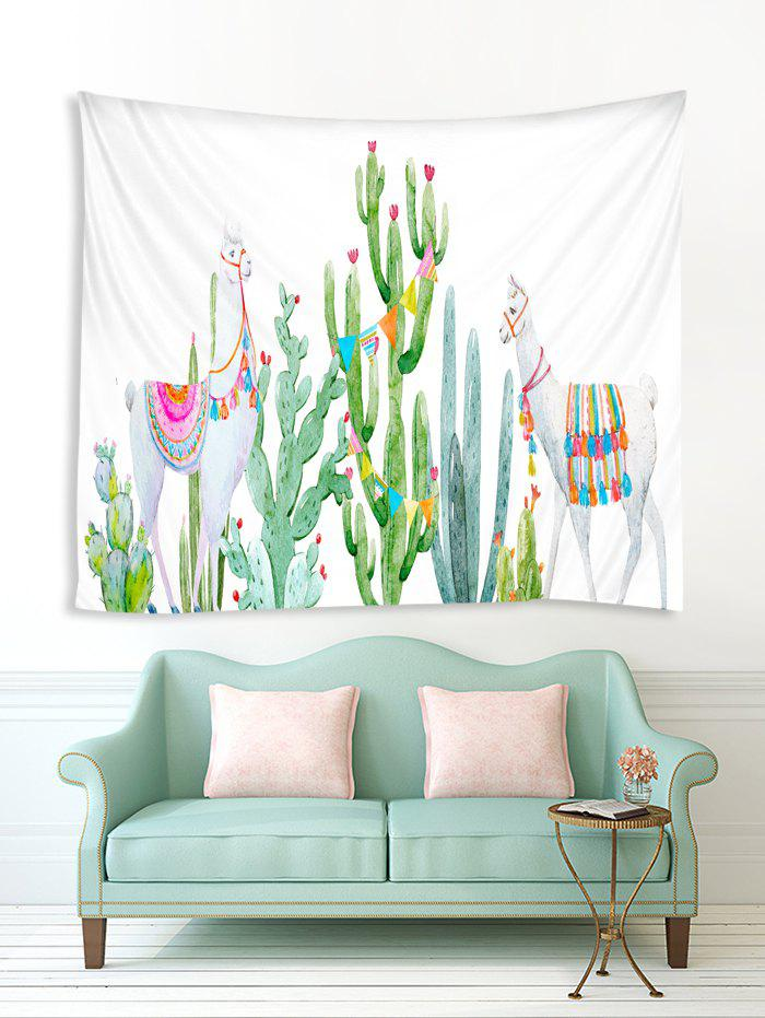 Outfit Cartoon Cactus and Animal Print Tapestry Wall Hanging Art Decoration