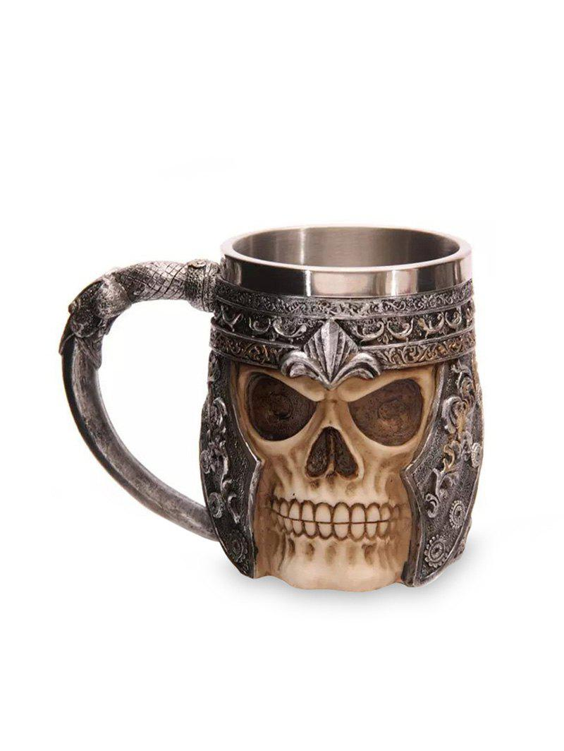 Unique 3D Skull Head Shaped Mug