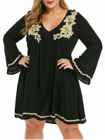 Plus Size Embroidered Empire Waist Dress