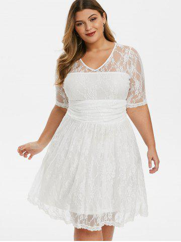 Plus Size White Dress - Free Shipping, Discount And Cheap ...