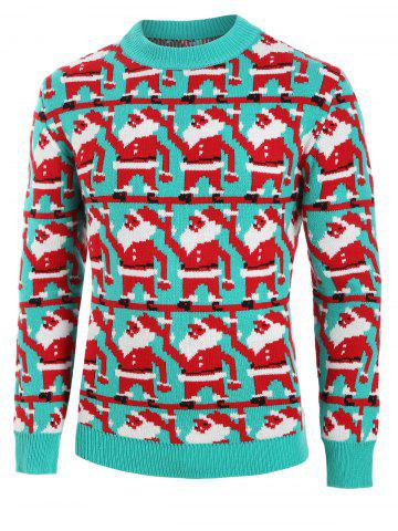 Santa Claus Print Knitted Sweater