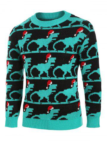 Christmas Animal Print Knitted Sweater