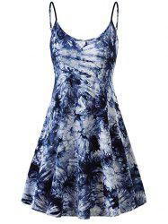 Tie Dye A Line Mini Cami Dress -