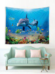 3D Print Dolphin Fish Underwater World Wall Tapestry -
