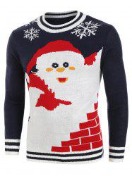 Santa Claus Pattern Knitted Sweater -