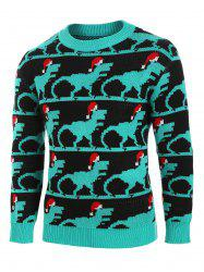 Christmas Animal Pattern Knitted Sweater -