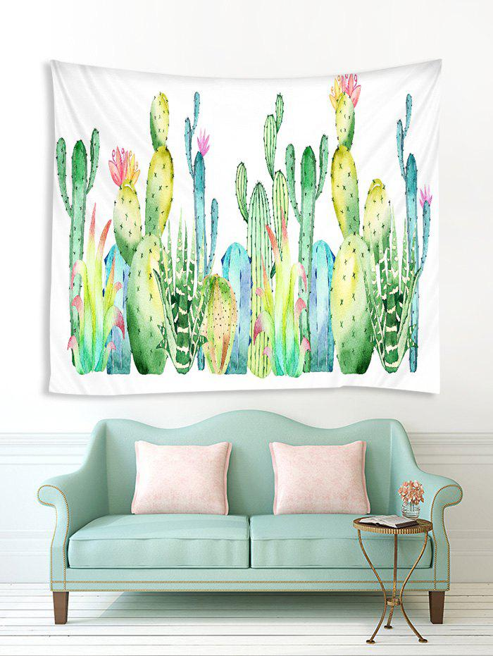 Latest Cactus Plant Pattern Printed Tapestry