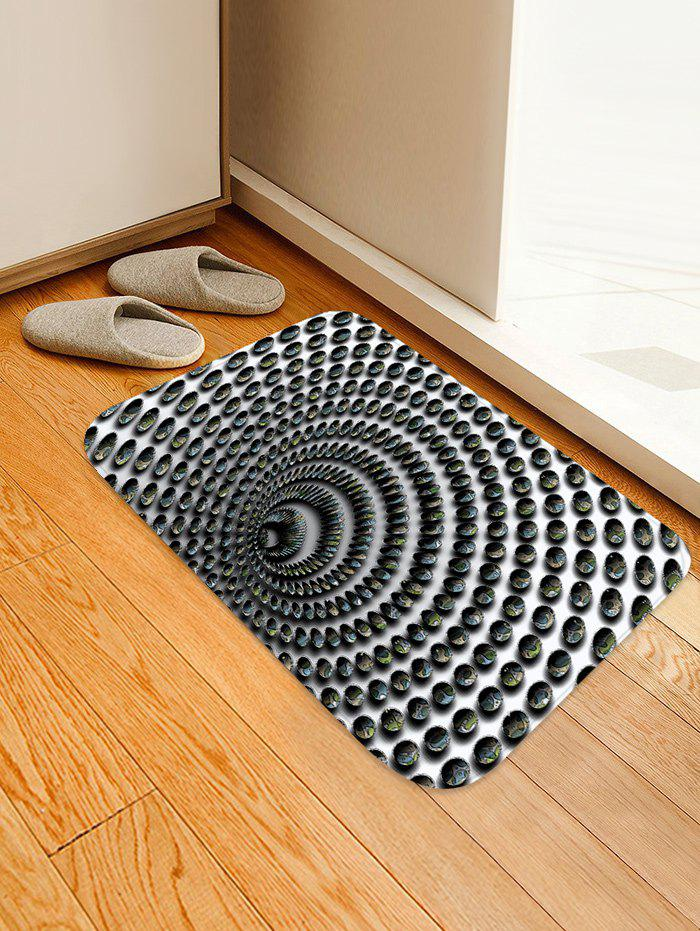 Shop 3D Whirlpool Pattern Printed Floor Mat