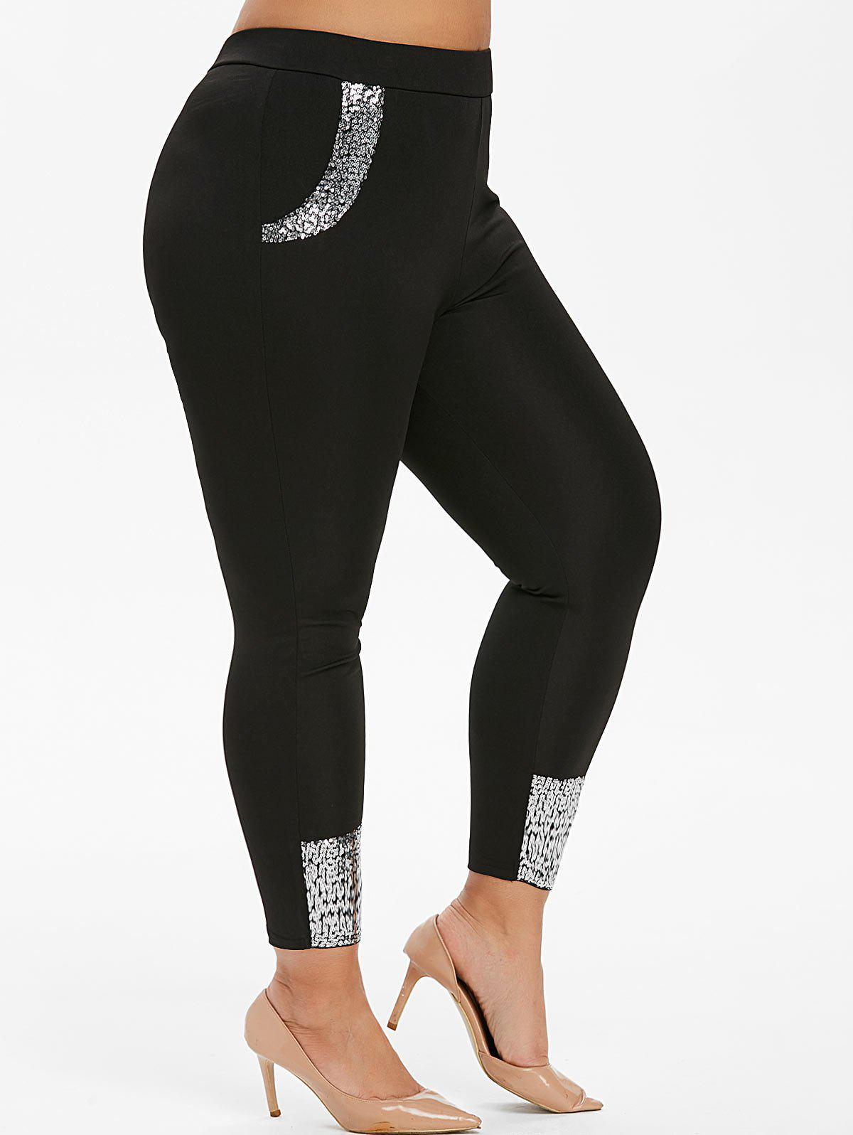 Buy Plus Size Sequin Skinny Leggings