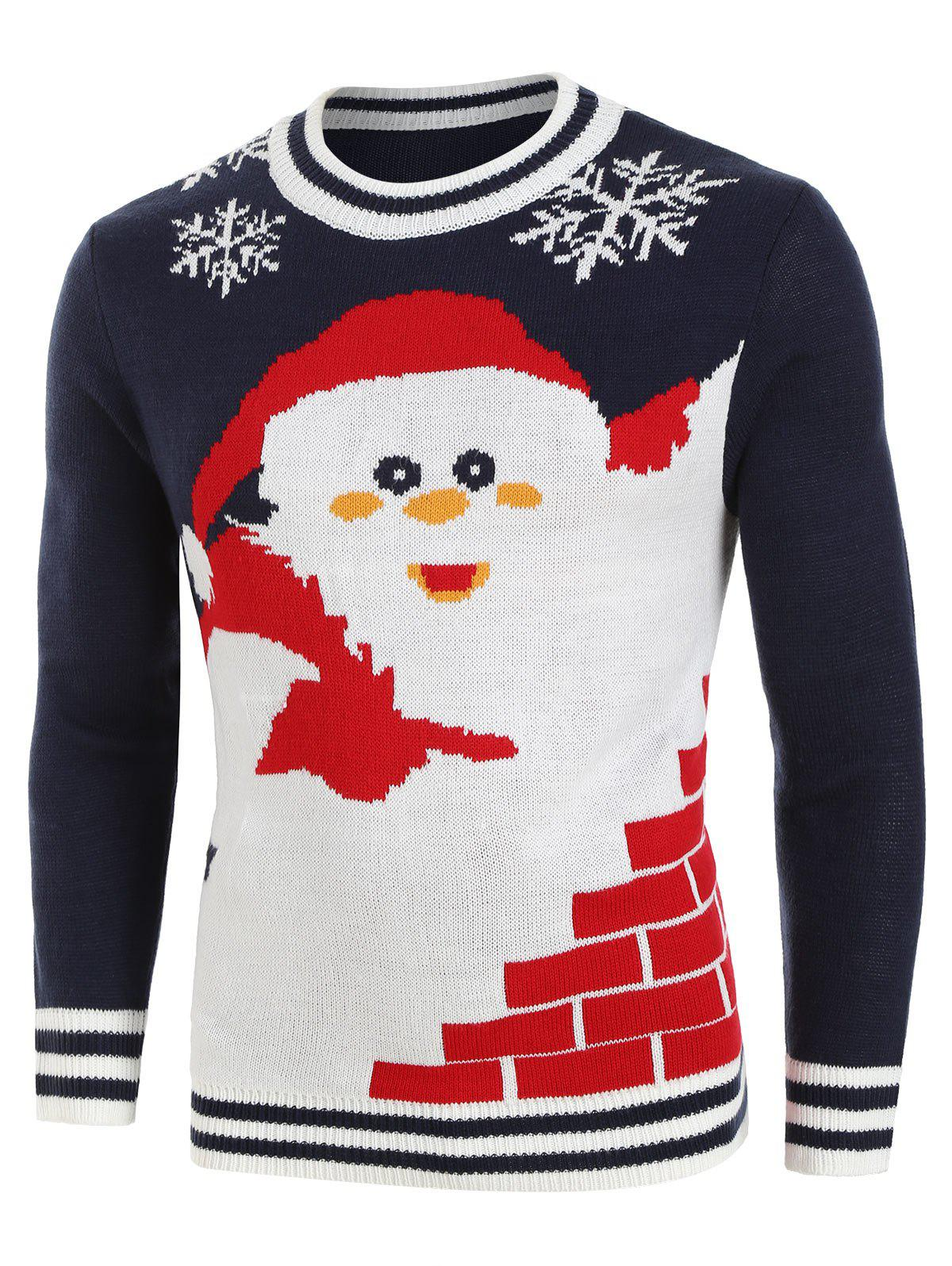 Latest Santa Claus Pattern Knitted Sweater