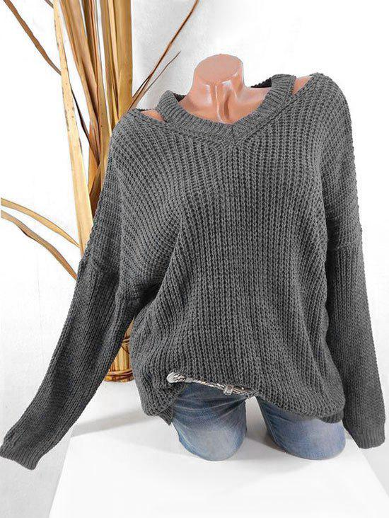 Shop Plus Size Cut Out Chunky Jumper