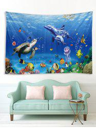 Underwater Animals Printed Tapestry Wall Hanging Art Decor -