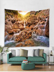 Mountain Stone Stream Print Tapestry Wall Hanging Art Decoration -