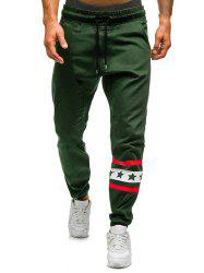Star Stripe Graphic Drawstring Jogger Pants -