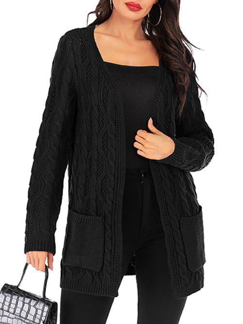 Shops Open Cable Knit Pocket Tunic Cardigan