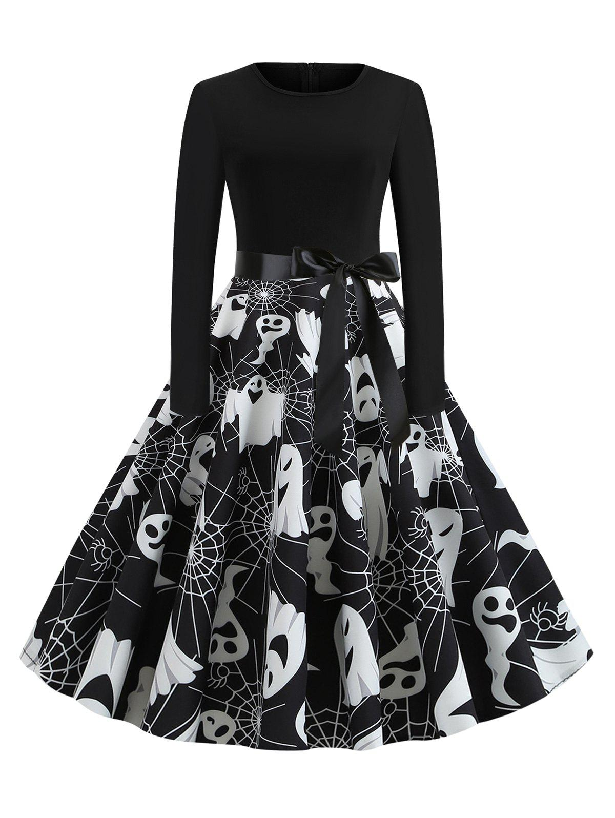 Fashion Halloween Long Sleeve A Line Dress