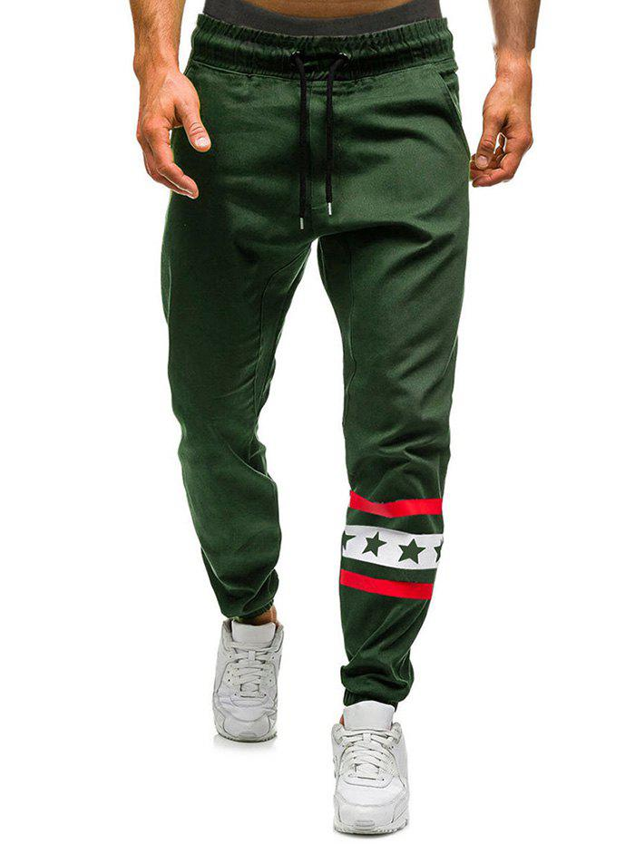 Best Star Stripe Graphic Drawstring Jogger Pants