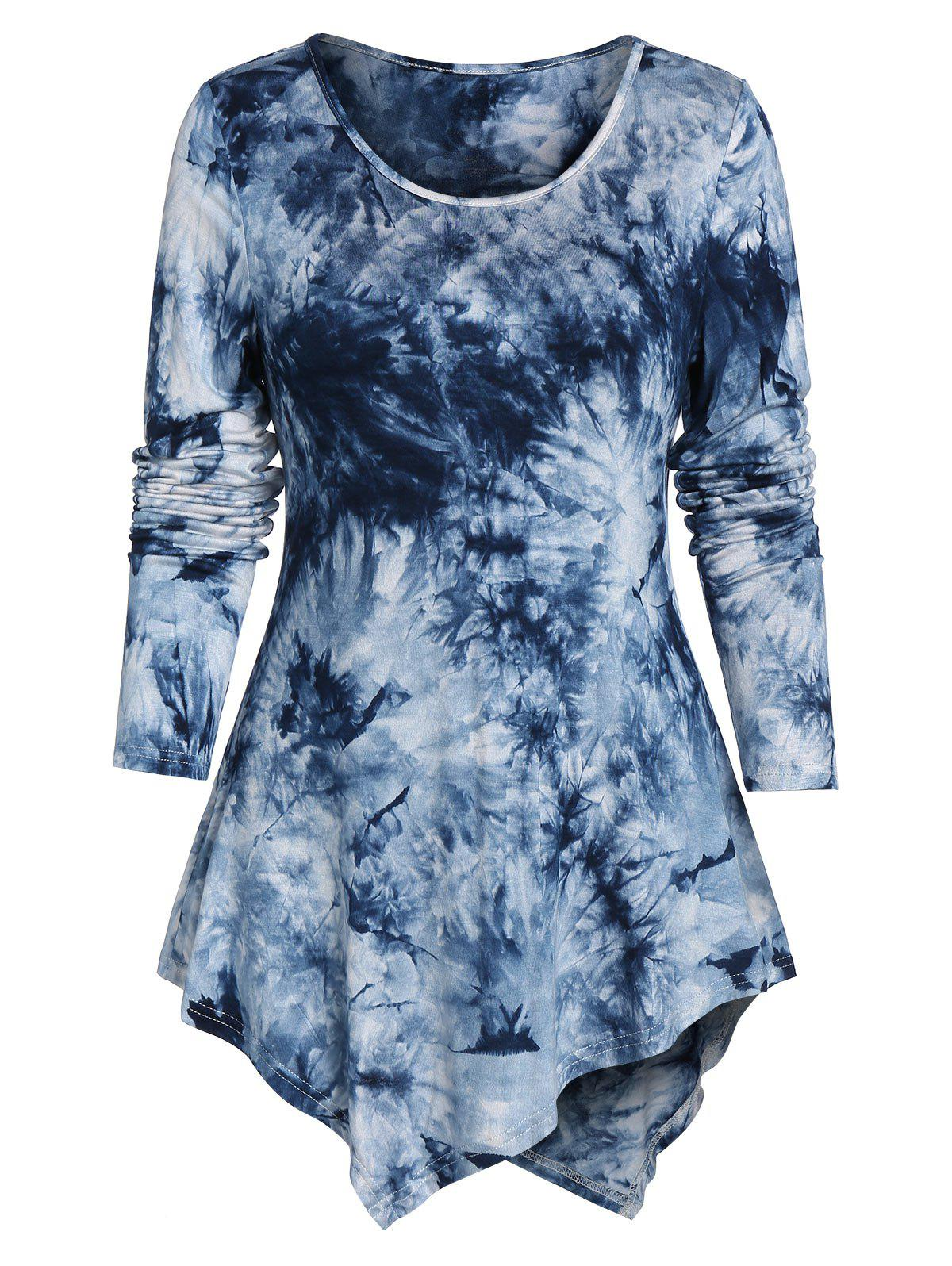 Buy Asymmetrical Tie Dye T-shirt