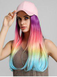 Ombre Straight Long Synthetic Hat Wig -