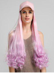 Ombre Curly Long Synthetic Hat Wig -