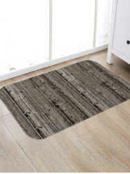 Vintage Wood Grain Flannel Anti-slip Floor Rug -