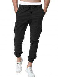 Pocket Design Drawstring Jogger Pants -