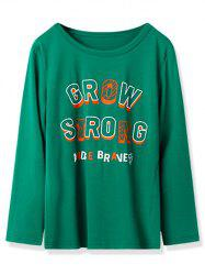 Kids Grow Strong Graphic Long Sleeve T Shirt -