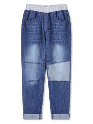 Boys Patch Rolled Hem Pencil Jeans -