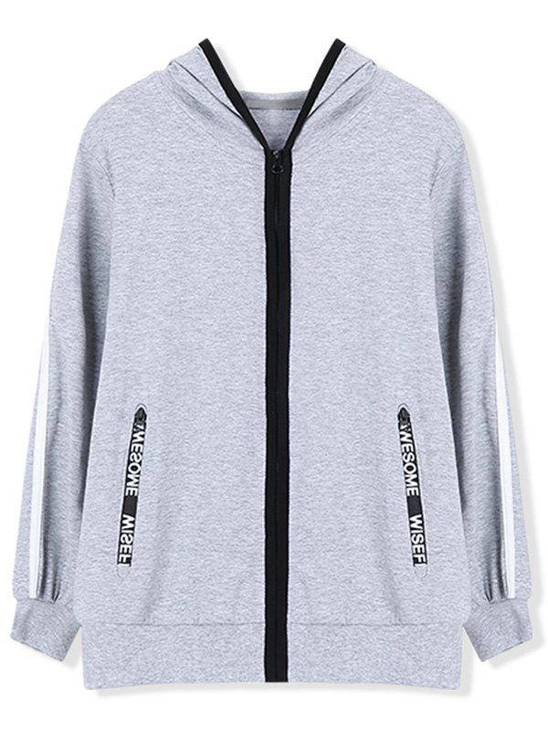 Chic Casual Hoodie with Zip Pocket