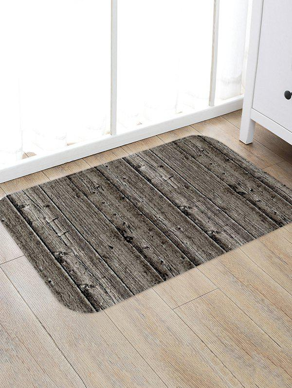 Outfits Vintage Wood Grain Flannel Anti-slip Floor Rug