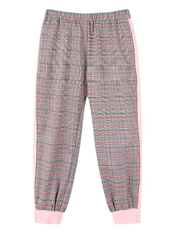 Latest Girls Plaid Print Elastic Waist Jogger Pants