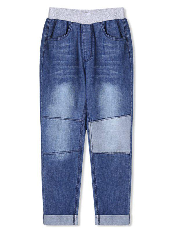 Shop Boys Patch Rolled Hem Pencil Jeans