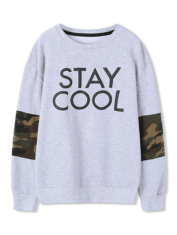 Shops Camouflage Pattern Design Sweatshirt