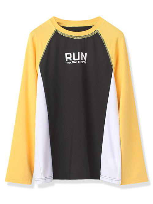 Outfits Boys Run Graphic Color Block Long Sleeve Tee