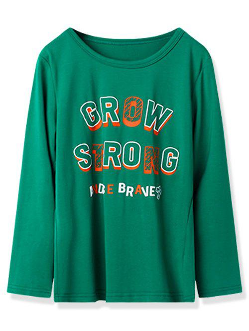 Affordable Kids Grow Strong Graphic Long Sleeve T Shirt