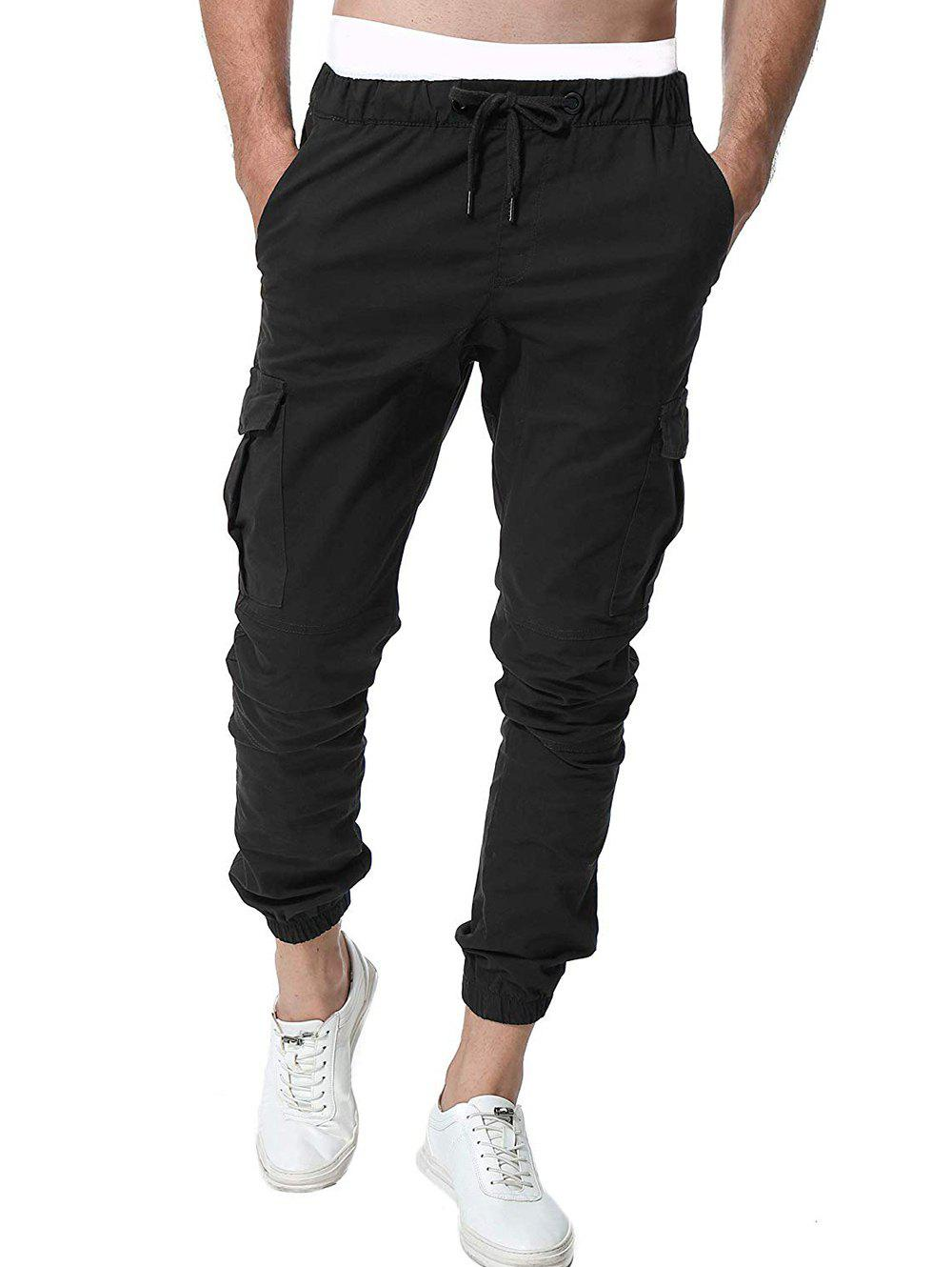 Buy Pocket Design Drawstring Jogger Pants