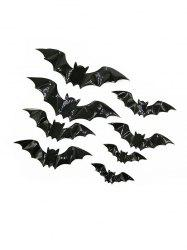 16PCS 3D Halloween Bat Wall Stickers -