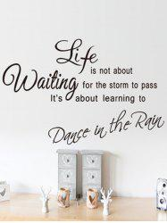 Life Quote Printed Removable Wall Art Stickers -