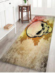 Halloween Skull Pattern Printed Floor Mat -