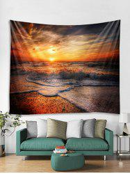 Sunset Beach Wave Print Tapestry Wall Hanging Art Decoration -