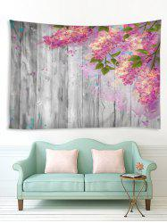 3D Digital Printing Paint Floral Wood Wall Tapestry -