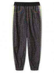 Boys Side Striped Jogger Denim Pants -
