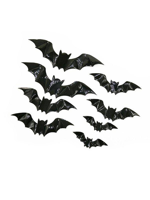 Unique 16PCS 3D Halloween Bat Wall Stickers