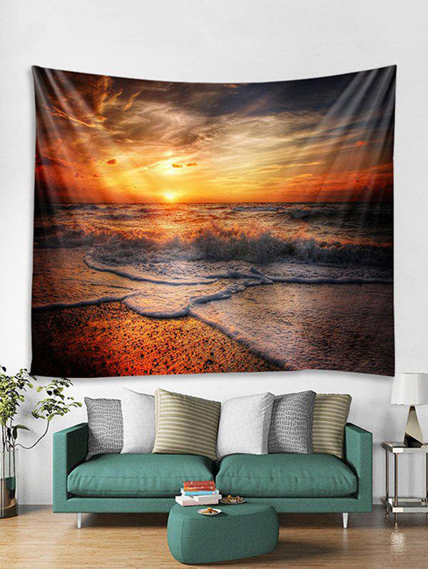 Unique Sunset Beach Wave Print Tapestry Wall Hanging Art Decoration